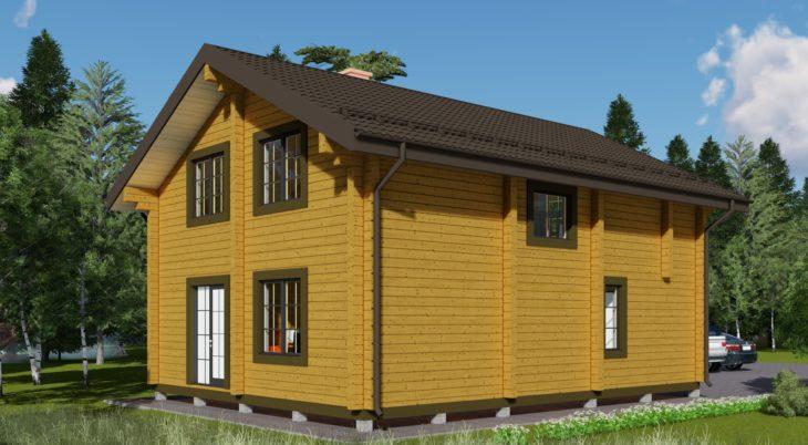 Проект дома из бруса Д-572 фото
