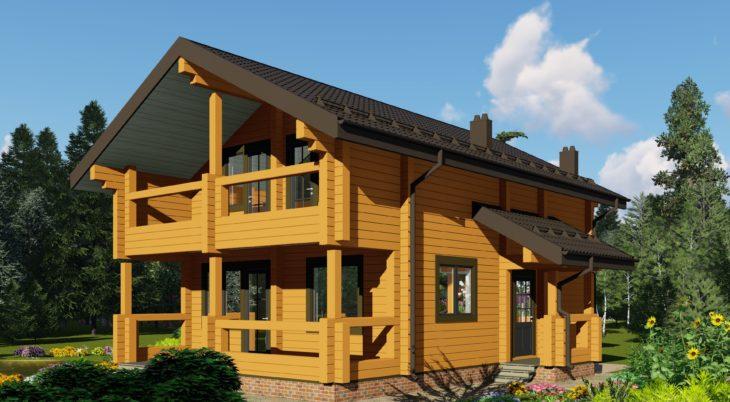 Проект дома из бруса Д-580 фото