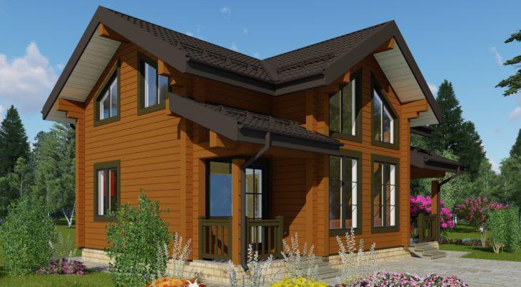Проект дома из бруса Д-582 фото