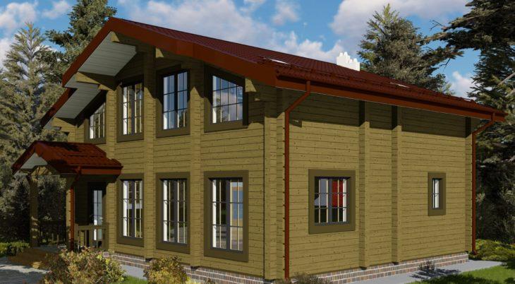 Проект дома из бруса Д-548 фото
