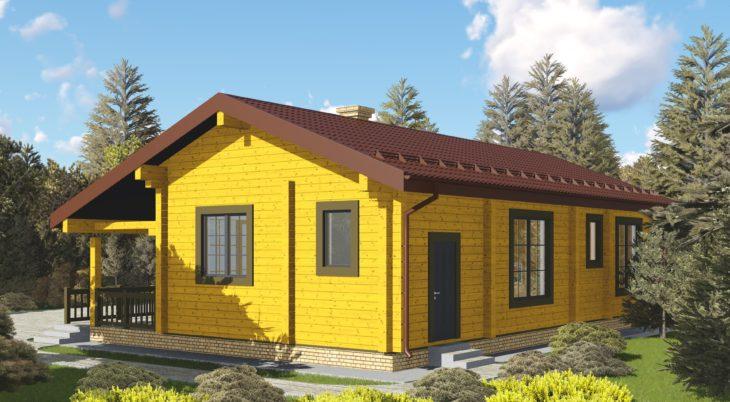 Проект дома из бруса Д-558 фото