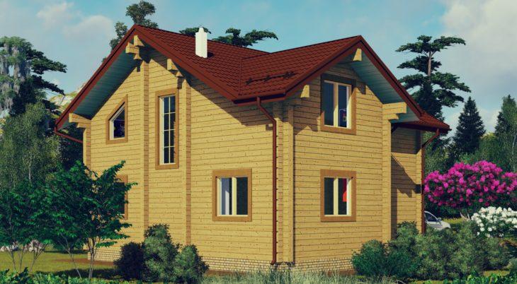 Проект дома из бруса Д-568 фото
