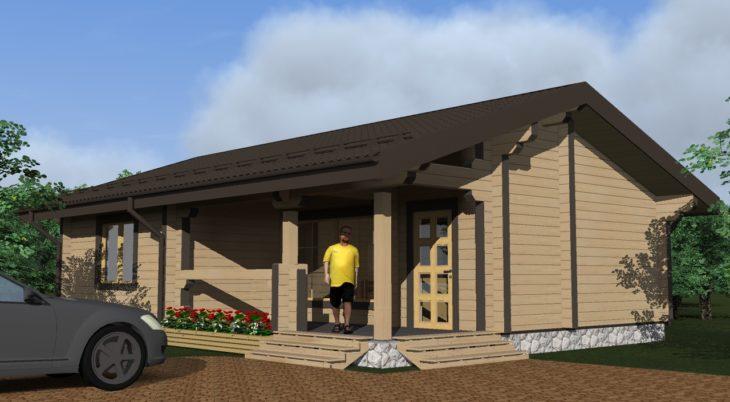 Проект дома из бруса Д-397 фото