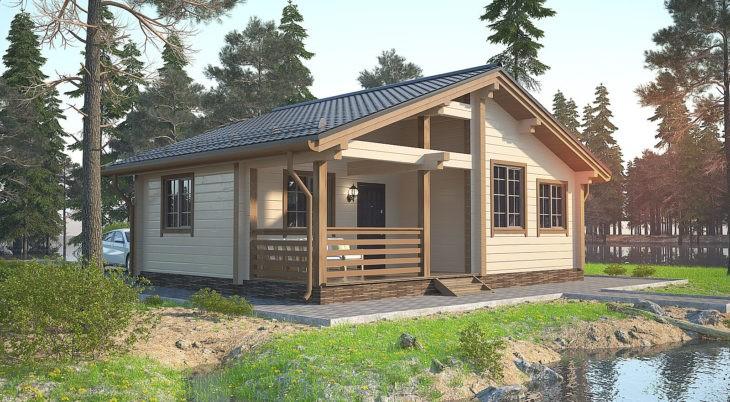 Проект дома из бруса Д-549 фото