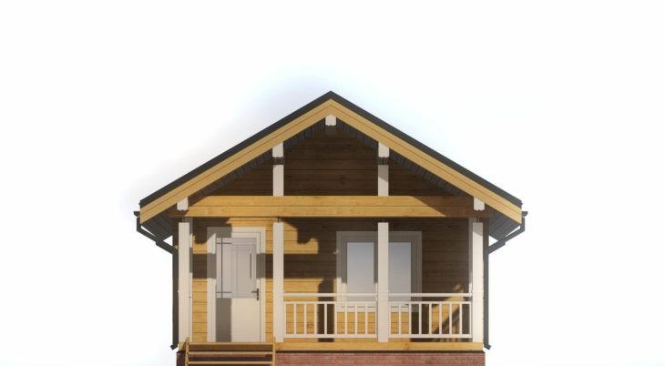 Проект дома из бруса Д-521 фото