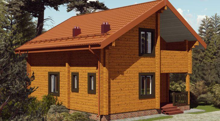 Проект дома из бруса Д-544 фото