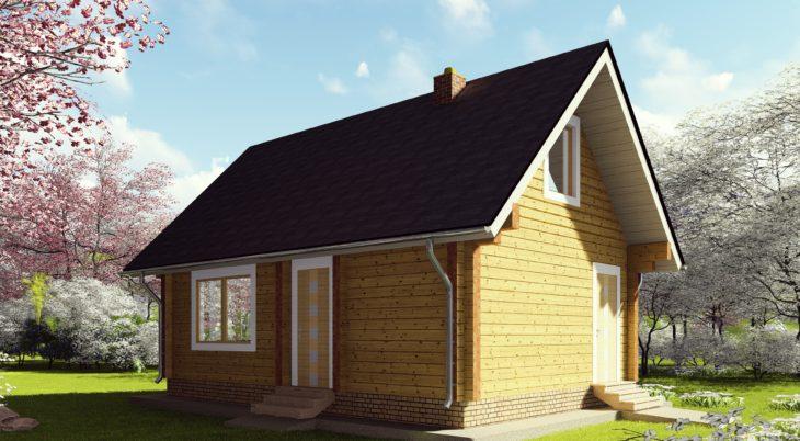 Проект дома-бани из бруса Д-383 фото