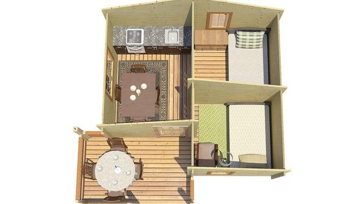 Садовый домик из бруса Varuna 102 фото