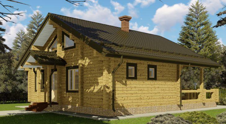 Проект дома из бруса Д-050 фото
