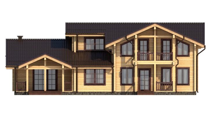 Проект дома из бруса Д-539 фото