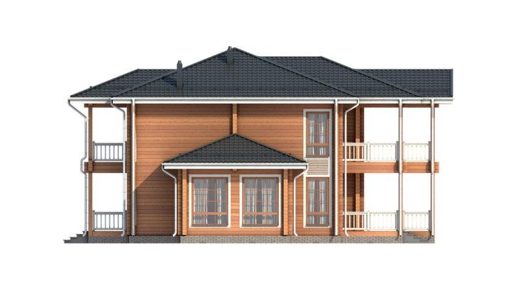 Проект дома из бруса Д-547 фото