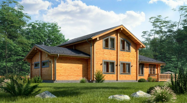 Проект дома из бруса Д-550 фото