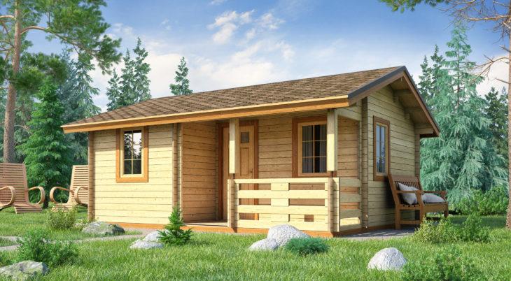 Садовый домик из бруса Miranda 109 фото