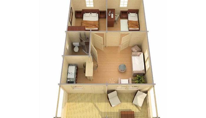 Садовый домик из бруса Kelly 9/34-70 фото