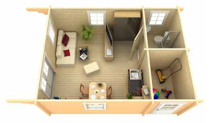 Садовый домик из бруса Eva 7053 фото