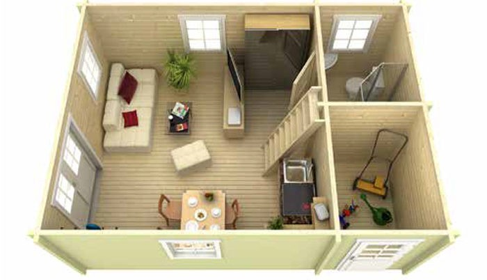 Садовый домик из бруса Eva 7054 фото
