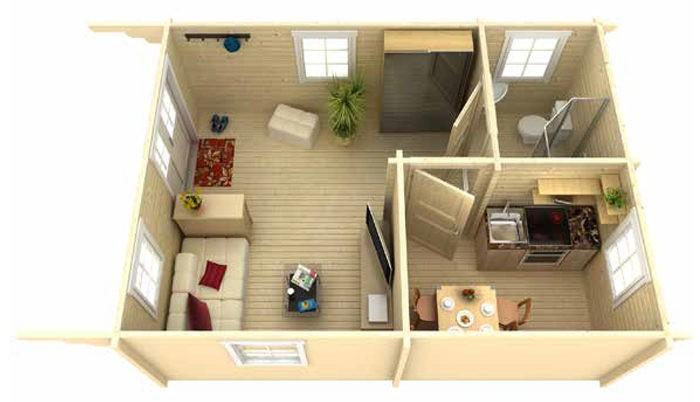 Садовый домик из бруса Eva 7055 фото