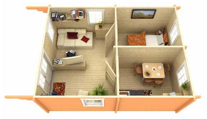 Садовый домик из бруса Eva 7056 фото