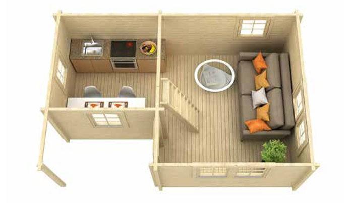 Садовый домик из бруса Dana 7051 фото