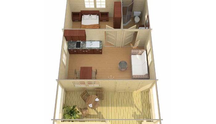 Садовый домик из бруса Monica 8/34-70 фото