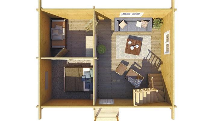 Садовый домик из бруса Oberon 301 фото