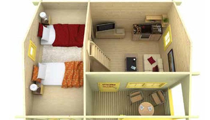 Садовый домик из бруса Sabina 7063 фото