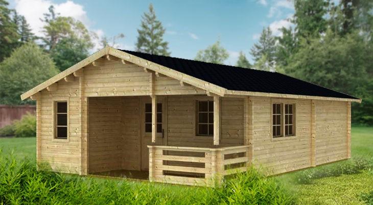 Садовый домик из бруса Gloria 4/34-70 фото