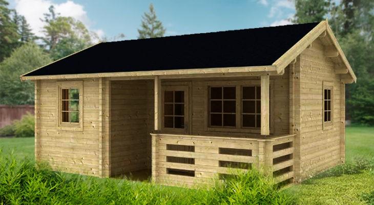 Садовый домик из бруса Sabina 7062 фото