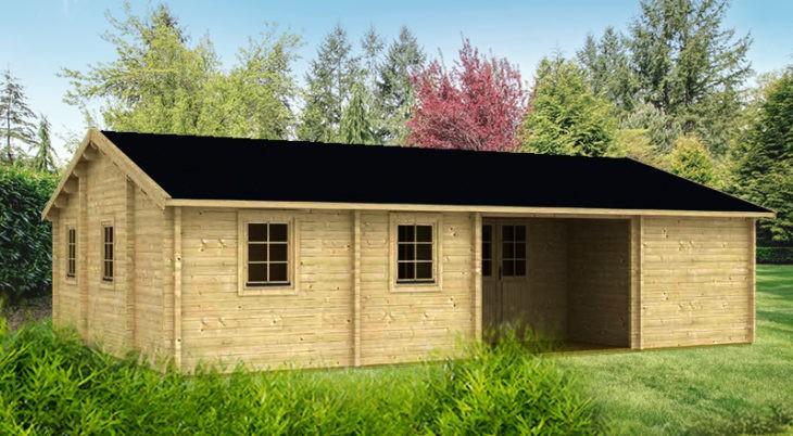 Садовый домик из бруса Tina 8/34-70 фото