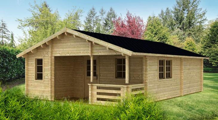Садовый домик из бруса Gloria 7085 фото