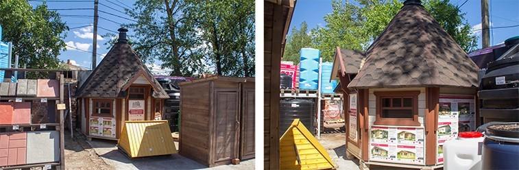 Выставочный гриль-домик от «Адепт-Лес»