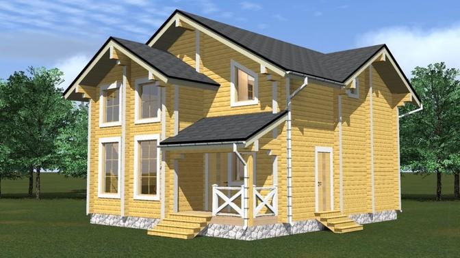 Проект дома из бруса Д-355 фото