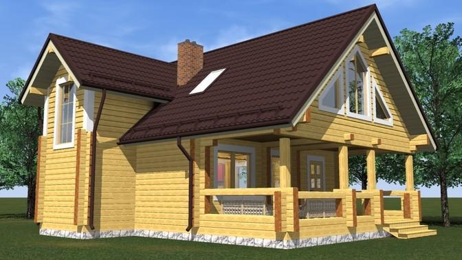 Проект дома из бруса Д-359 фото