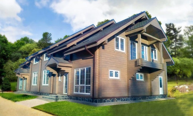 Проект дома из бруса Д-500 фото