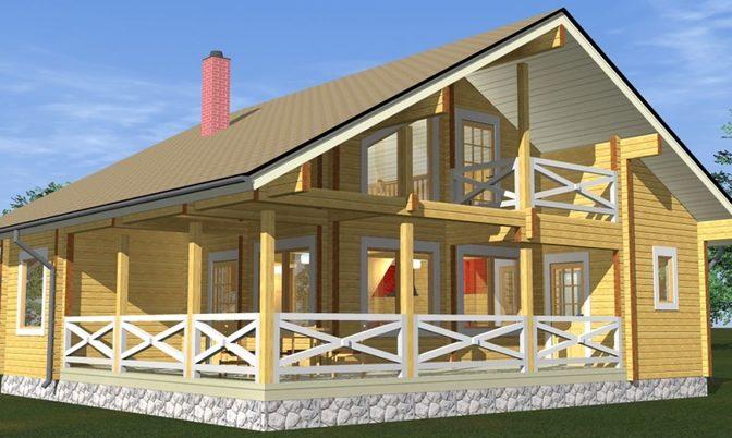 Проект дома из бруса Д-317 фото