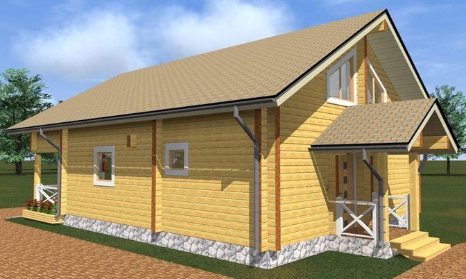 Проект дома из бруса Д-332 фото