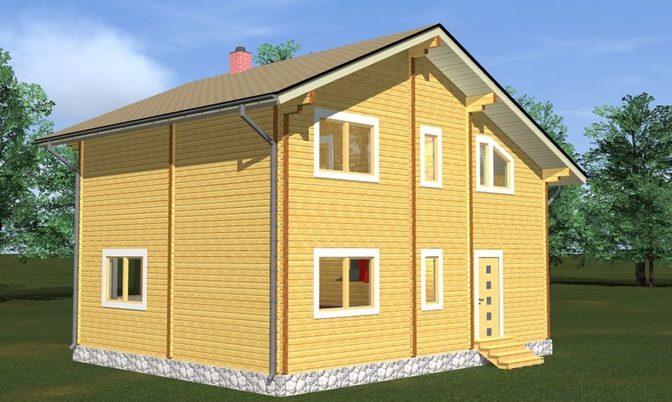 Проект дома из бруса Д-328 фото