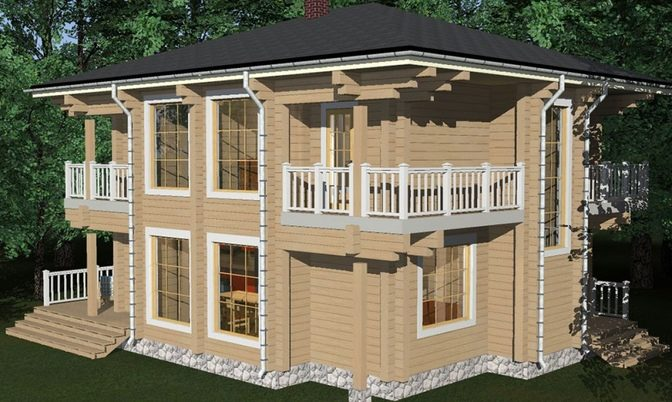 Проект дома из бруса Д-343 фото