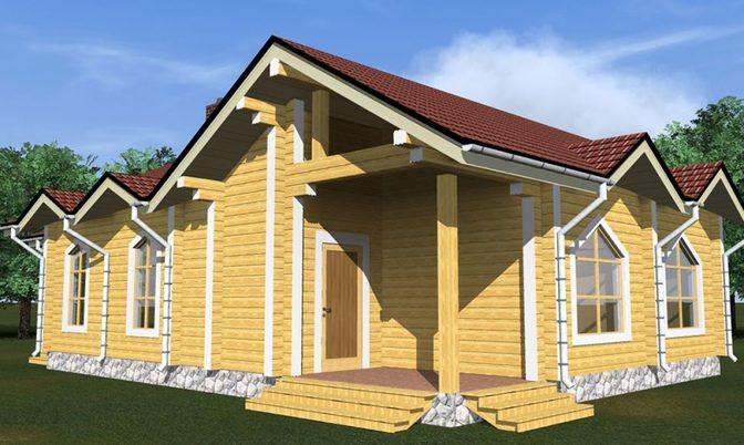 Проект дома из бруса Д-350 фото