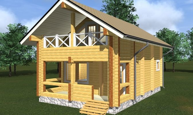 Проект дома из бруса Д-319 фото