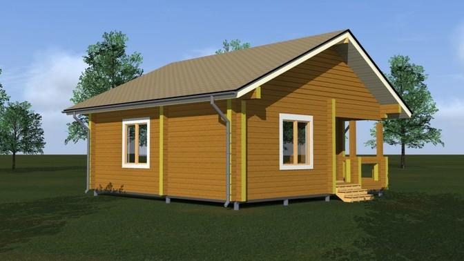 Проект дома из бруса Д-312-1 фото