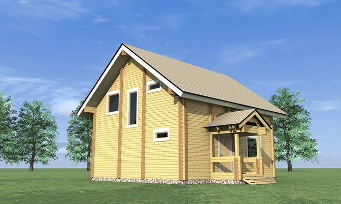 Проект дома из бруса Д-304 фото