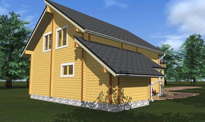 Проект дома из бруса Д-326 фото