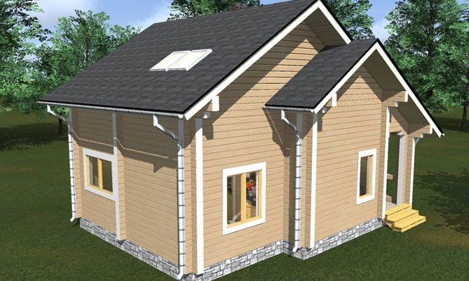 Проект дома из бруса Д-339 фото