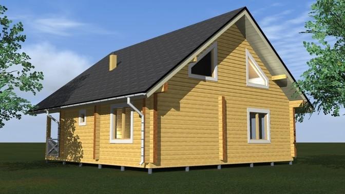 Проект дома из бруса Д-377 фото