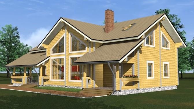 Проект дома из бруса Д-331 фото