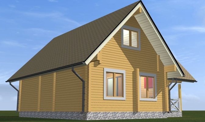 Проект дома из бруса Д-325 фото