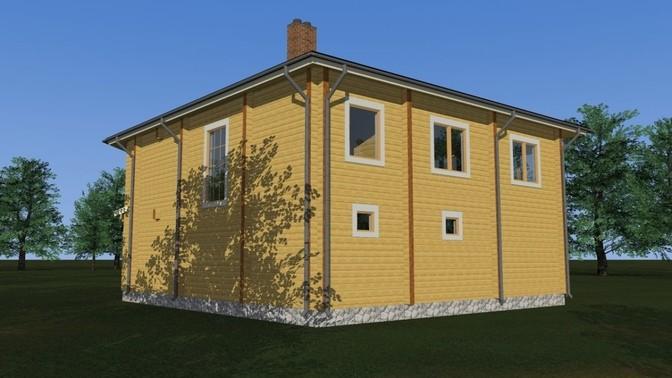 Проект дома из бруса Д-329 фото