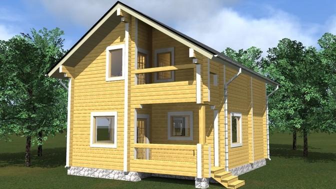 Проект дома из бруса Д-353 фото
