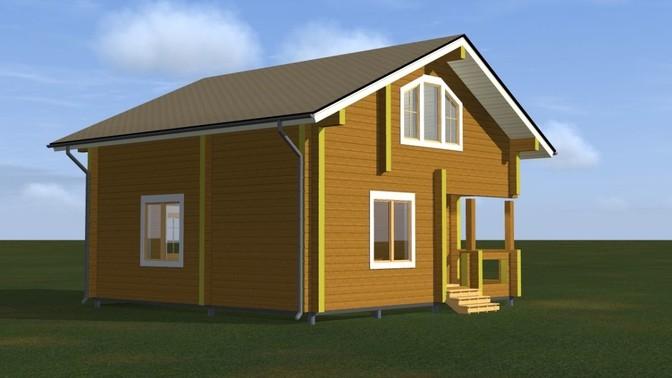 Проект дома из бруса Д-312-2 фото